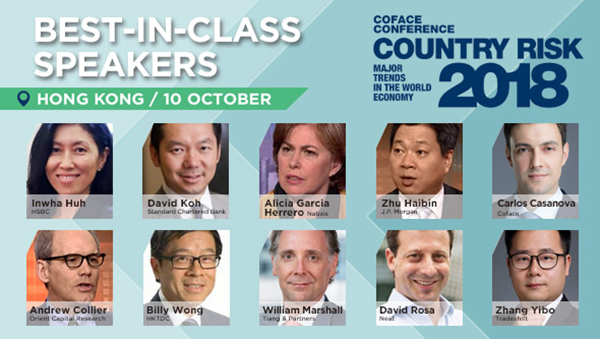 Meet our best-in-class speakers at Coface Country Risk Conference 2018 on 10 October at Bankers Club