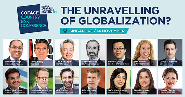 Meet our best-in-class speakers at Coface Country Risk Conference 2019 on 14 November at The Westin Singapore